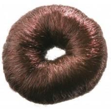 Валик для волос круглый коричневый